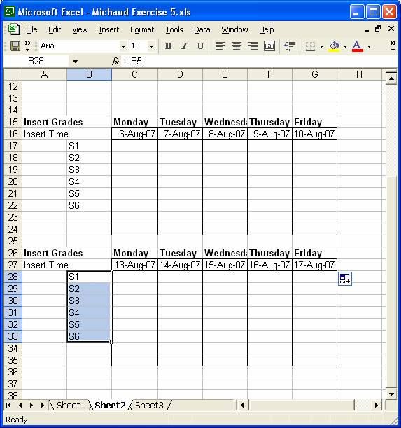 Workout Chart Excel Workout Schedule Excel