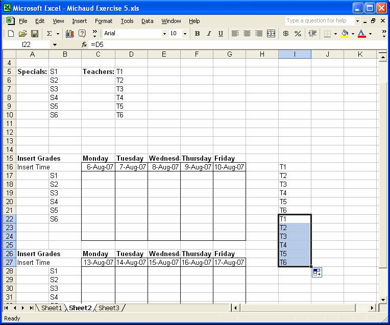 how to use autofill in excel 2010