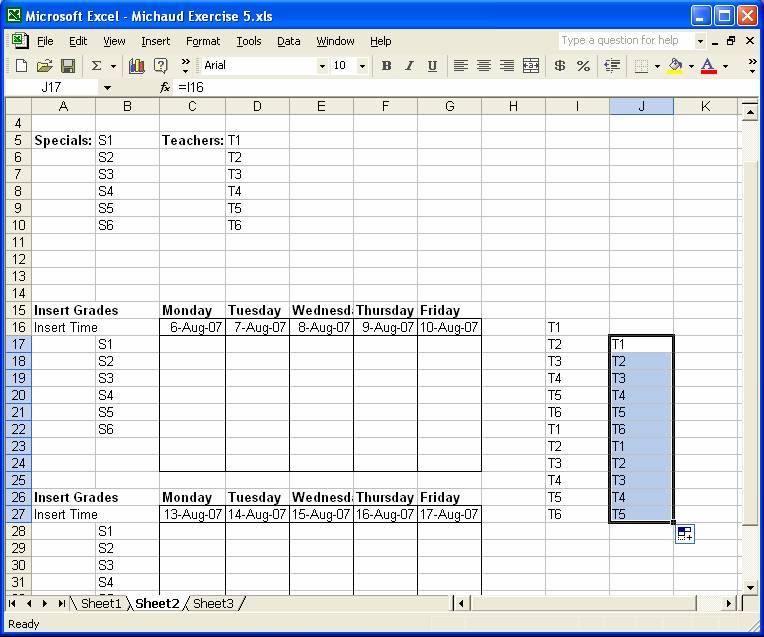 Excel Spreadsheet Template For Scheduling