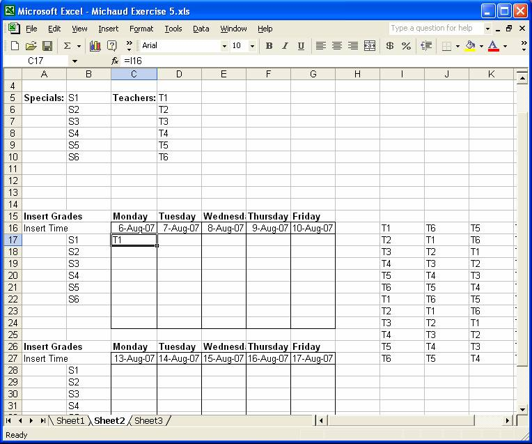 excel exercise 5 instructions