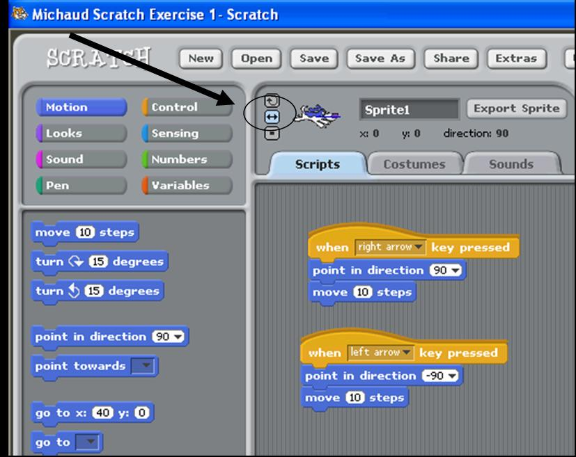 Introduction To Scratch: Exercise 1