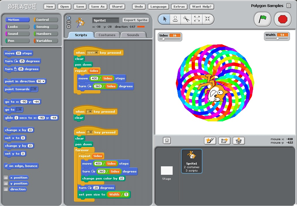 Scratch Project Instructions: Polygon Robot